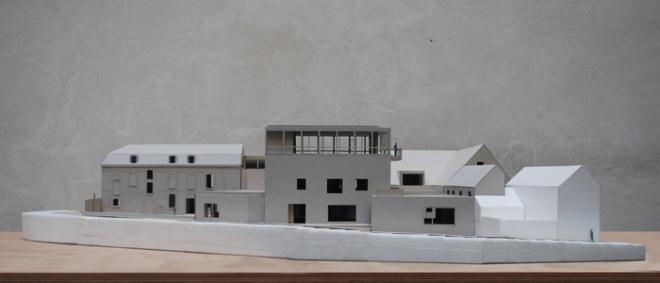 Maquette de la façade du musée